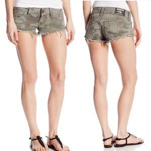 True religion camo shorts